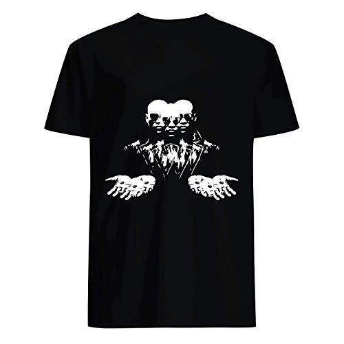 USA 80s TEE Matrix Minimalist Style Shirt Black]()