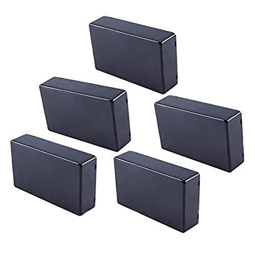 TINGB 5 pcs 100x60x25mm Couverture Projet Bo/îtier /électronique Instrument Bo/îtier pour bo/îte de jonction de Puissance DIY