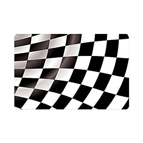 TSlook Fashions Doormat Checkered Flag Indoor/Outdoor/Front Welcome Door Mat(23.6