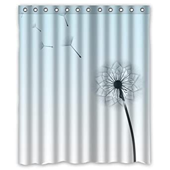 Amazon Com Dandelion Flower Pattern Waterproof Bathroom Decor