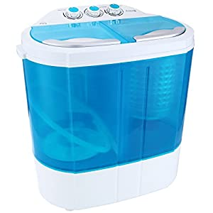 KUPPET Mini 8-9lbs Portable Washing Machine & Spin Dryer Compact Durable Design To Wash All your Laundry Twin Tub Washer, for Apartments, Dorms, RV Camping Swim Suit Spinner Dryer, Blue