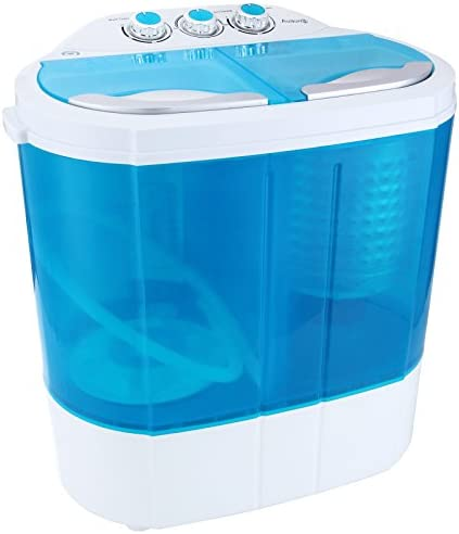 Auauna Mini Portable RV Dorm Compact 8-9lbs Washing Machine Washer Spin Dryer Laundry