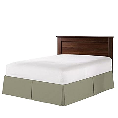 Nestl Bedding Double Brushed Microfiber Dust Ruffle, 14-Inch Tailored Drop Pleated Twin Bed-Skirt, (Bedskirt For Twin Bed)