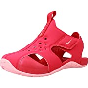 NIKE Girl's Sunray Protect Sandal, Tropical Pink/Bleached Coral, 4C