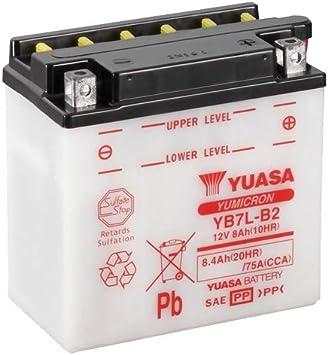 Batterie Yuasa Yb7l B2 Dc Offen Ohne Säure 12v 8ah Cca 75a 135x75x133mm Auto