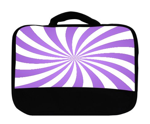 Electric Neon Swirl (Lavendar Candy Swirl Canvas Lunch Bag by Moonlight Printing)
