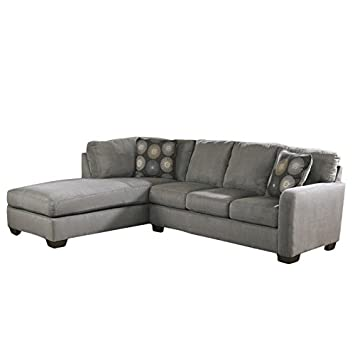 Surprising Ashley Furniture Zella Microfiber Sofa Sectional In Charcoal Download Free Architecture Designs Barepgrimeyleaguecom