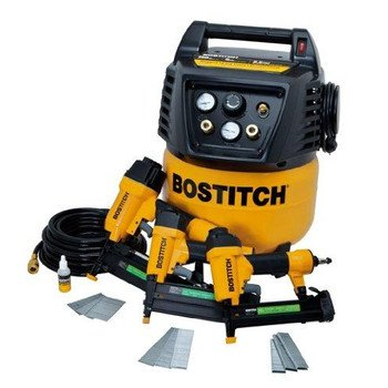 Factory-Reconditioned BOSTITCH U/BTFP12237 3-Tool and Compressor Combo ()
