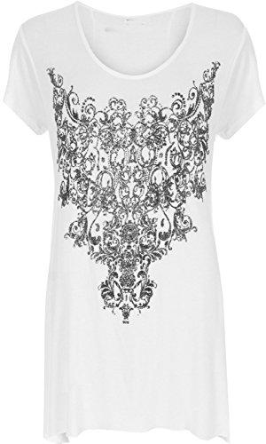 Funky Fashion Shop - Falda - para mujer blanco