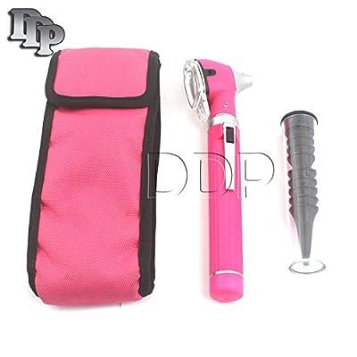 Ddp Fiber Optic Otoscope Mini Pocket Pink Ent Diagnostic Set