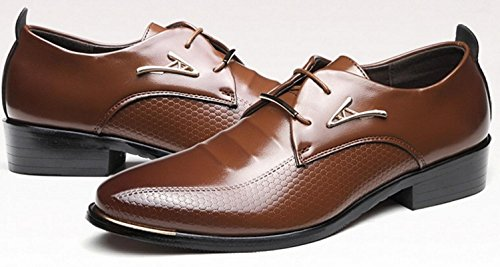 A Uomo 38 Dita Shoes brown Oxfords In Dei up Le Lace Matrimoni HYLM Business Pelle punta fpqwxdfXZ