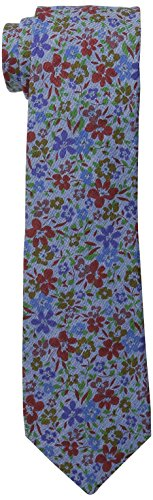 Ben Sherman Men's Londrina Floral Skinny Tie, Red, One Size