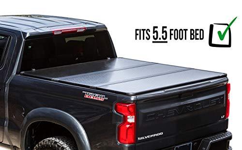 RDJ Trucks Travel-PRO 65-Series Premium Hard Aluminum Tri-Folding Tonneau Bed Cover - Fits F150 2015-2019 (5.5ft Bed)