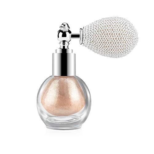 Ownest Highlighter Powder Spray, Glitter High Gloss Spray Shimmer Sparkle Powder Makeup Spray, for Face Body Cosmetic…