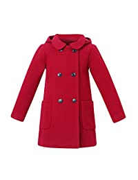 Richie House Girls' Wool Double-Breasted Jacket Size 1-10Y RH2517