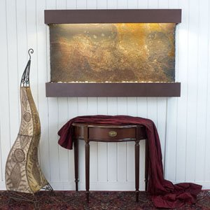 Horizon Copper Fountain (SaClassic Quarry Horizon Falls Wall Fountain Finish Copper Vein)
