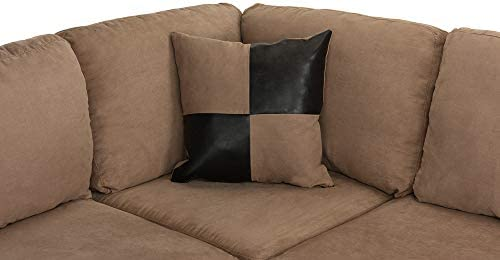 home, kitchen, furniture, living room furniture,  living room sets 8 image 3-Piece Modern Reversible Microfiber / Faux Leather Sectional in USA