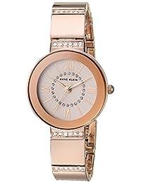 Anne Klein AK/3190RGRG Women's Bracelet Watch Swarovski Crystal Accented, Rose Gold