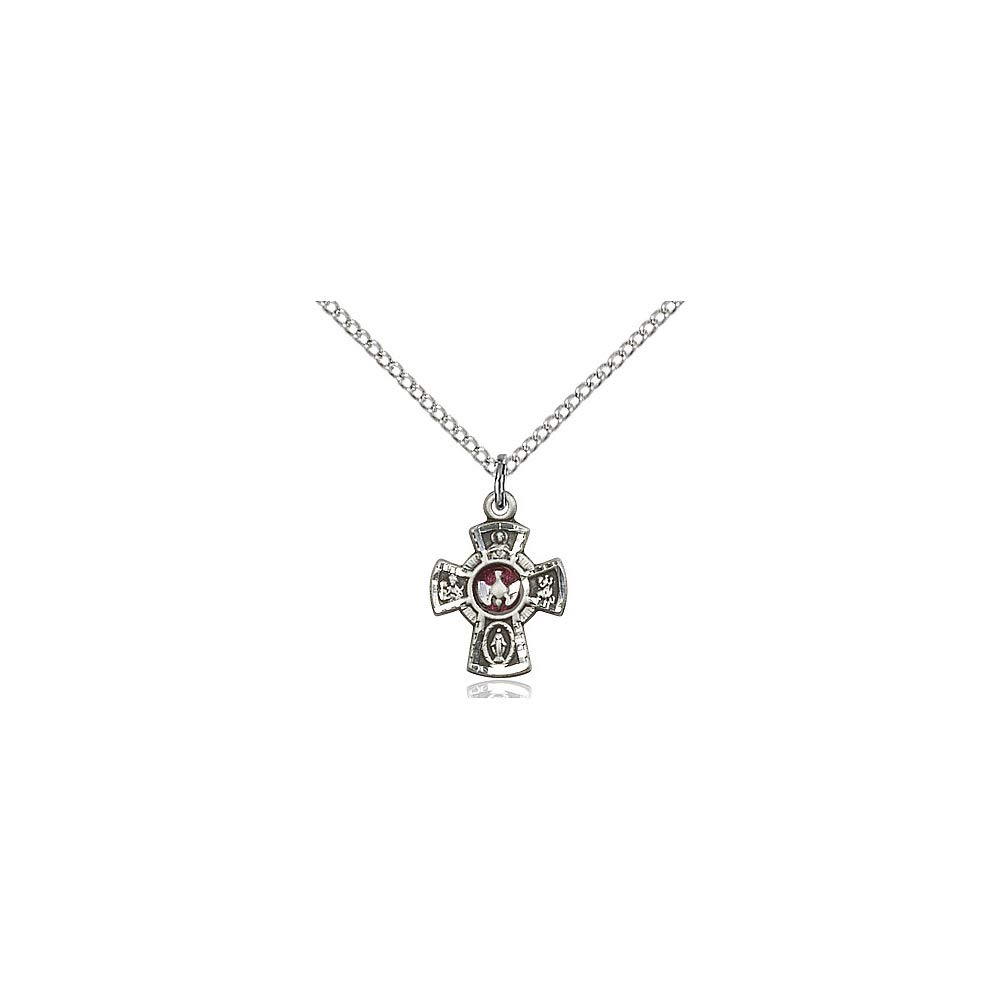 DiamondJewelryNY Sterling Silver 5-Way Pendant