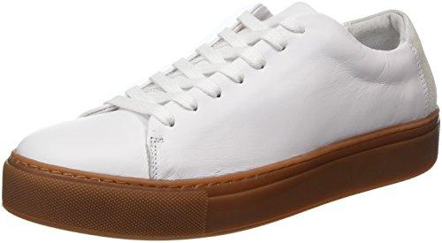 Selected Femme Dame Sfdonna Nye Læder Sneaker Weiß (hvid) gZk0V