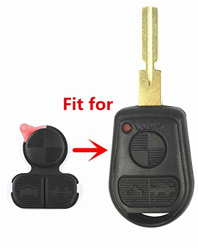 Repair Replacement 3 Button Remote Key Fob Button Pad Fits (Bmw Replacement Parts)