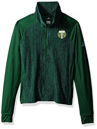 adidas MLS Portland Timbers Logo Driven 2.5 Heathered Quarter Zip Jacket, X-Large, Dark ()