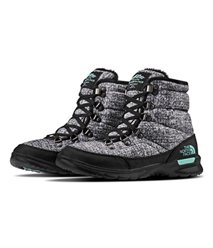 The North Face Women's Thermoball Lace II - Burnished Houndstooth Print & Blue Haze - 8