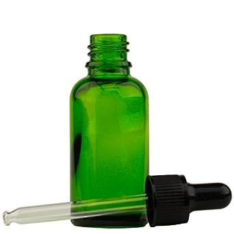 (30 ml) botella de aceite esencial de cristal verdes con tapa roscada