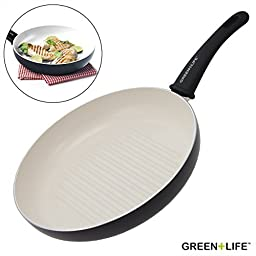 GreenLife Healthy Ceramic Non-Stick Grill Skillet Pan 11\