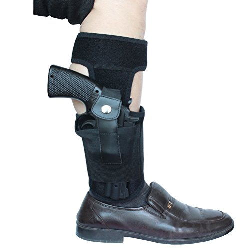 Ankle-Holster-with-padding-for-Concealed-Carry-with-Elastic-Secure-Strap-Pistol-Concealment-for-Women-Men-Fits-for-Small-to-Medium-Frame-Pistols-and-Revolvor-Black