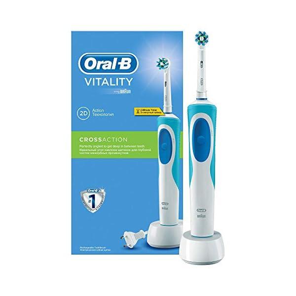 Oral-B Vitality Plus Crossaction - Cepillo de Dientes Eléctrico Recargable con Tecnología Braun, Azul y blanco 2