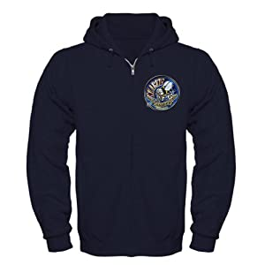 CafePress - USN Seabees We Build We Fight Blue Zip Hoodie (dar - Zip Hoodie, Classic Hooded Sweatshirt with Metal Zipper by CafePress