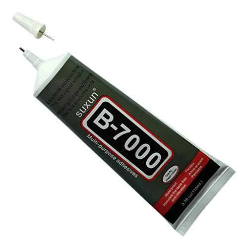 youeneom B-7000 Adhesive, Multi-Functional Powerful Super Industrial Glue semi-Fluid Transfer Adhesive for Glass, Wood, Jewelry, 6 Tape, 2 Packs (110ml)