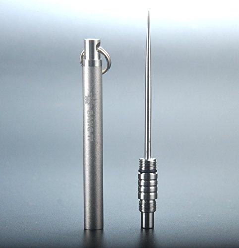Imporvedversion bang ti titanium novelty toothpick holder integrated kit self defense edc - Novelty toothpicks ...