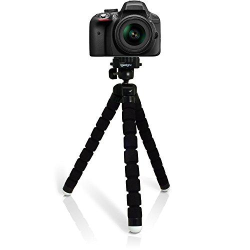 igadgitz Large Ultraflexibel Schaum Dreibeinstativ Mini-Stativ für Sony A-Mount Cameras ILCA-77M2, SLT-A58 SLT-A65 SLT-A77 SLT-A99V