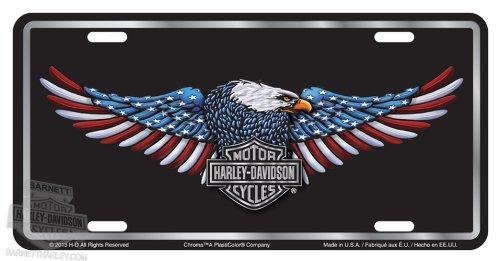 - Harley-Davidson Patriotic Eagle Stamped Metal Tag Front Plate