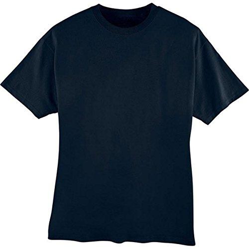 Hanes 5180 Hanes Beefy-T Adult Short-Sleeve T-Shirt,Navy,Medium