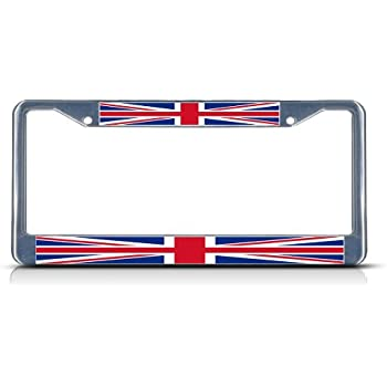 Amazon.com: BRITISH FLAG UNITED KINGDOM Chrome Heavy Duty Metal ...