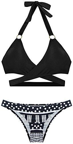 PL Halter Front Cross Bikini