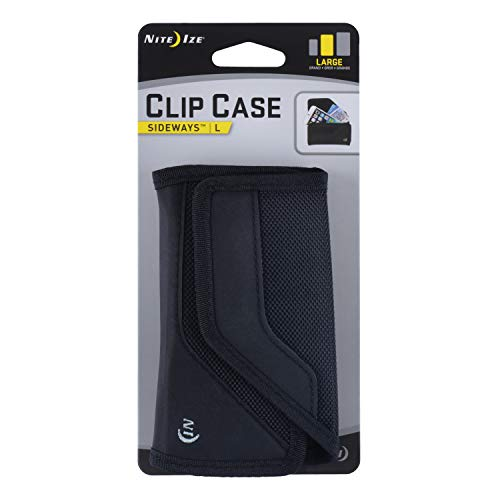 Holster 01 (Nite Ize Clip Case Sideways Phone Holster - Protective, Clippable Phone Holder For Your Belt Or Waistband - Large - Black)