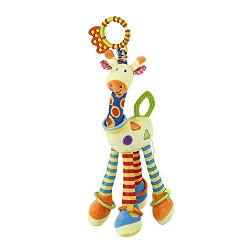 Soft Giraffe - Dorimi Baby Plush Toy Developmental Interactive Toy Infant Baby Development Soft Giraffe Animal Handbells Rattles Handle Toys For Crib, High Chair And Interactive Playing