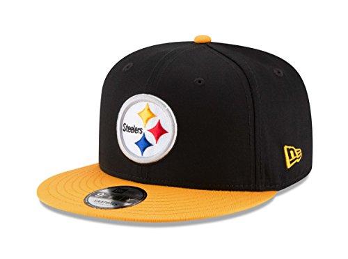 New Era NFL Pittsburgh Steelers Baycik Snap 9Fifty Snapback Cap, Small/Medium, Black