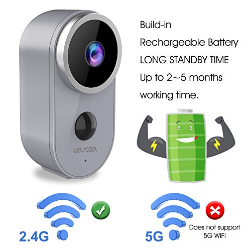 Wireless Camera for Home Security - Rechargeable Battery Powered WiFi Camera, 1080P Home Security Camera Outdoor Indoor with PIR Motion Detection, Night Vision, 2-Way Audio, Weatherproof (1080p)