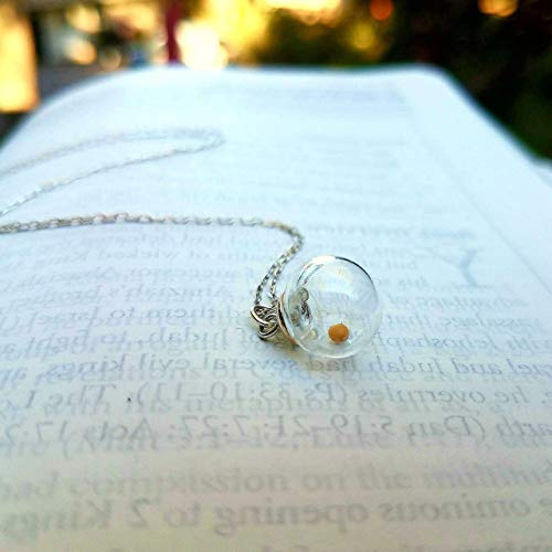 Mustard seed necklace, Sterling Silver, Easter basket, Faith Necklace, Mustard Seed Charm, Inspirational Jewelry, Encouragement