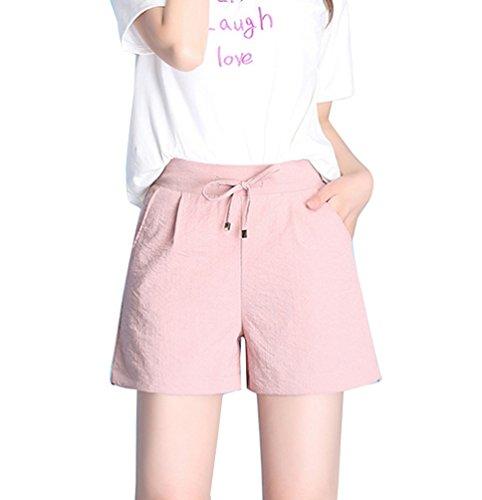 da Correre Pantaloncini Donna Calzoncini Yoga Pantaloncini Corti Respiranti Sportivi Runyue Rosa per Sportivi EqOwUH4x