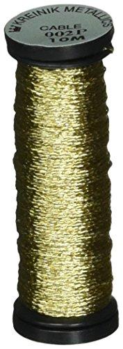 Cord Kreinik Metallic - Kreinik Metallic Cable 3-Ply, 10m, Gold