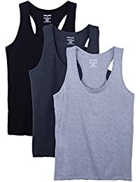 3 Pack Racerback Plus Size Cotton Blend Tank Tops