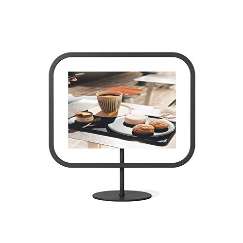 Umbra Infinity Picture Frame, Floating Photo Display for Desk or Wall, 5x7, Black