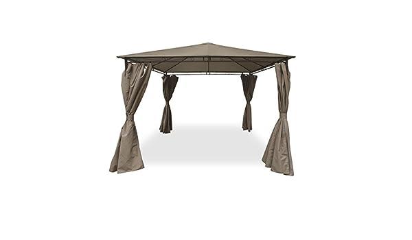Cenador 3 x 3 m autoportante con lienzo y cortinas Taupe: Amazon.es: Jardín
