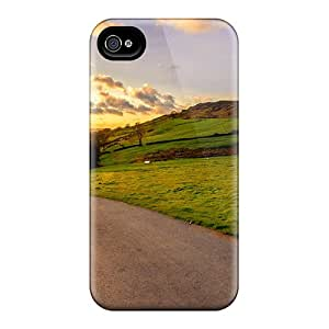 Rugged Skin Cases Covers For Iphone 6- Eco-friendly Packaging(road Down The Hill)